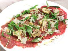 Carpaccio med kronärtskocka och parmesan | Recept från Köket.se