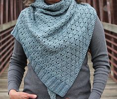 January Thaw by Laura Aylor | Worsted wt. | Knit from point to side, size is easily adaptable. Also reversible.