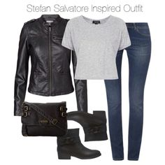 The Vampire Diaries - Stefan Salvatore Inspired Outfit by staystronng