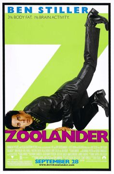 High resolution official theatrical movie poster for Zoolander Image dimensions: 1900 x Directed by Ben Stiller. Starring Ben Stiller, Owen Wilson, Christine Taylor, Will Ferrell Funny Movies, Comedy Movies, Great Movies, Film Movie, It's Funny, Hilarious, Funniest Movies, New Movies Coming Out, Movie Reels