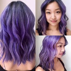 @nathannutterhair from @sallyhershbergernyc created this gorgeous look on his client using all #ManicPanic colors! #UltraViolet #ElectricAmethyst & #VirginSnow were all used to create this custom color!