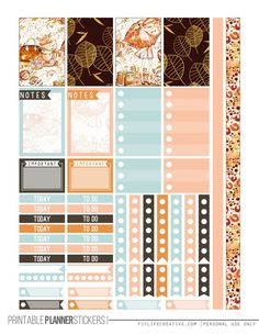Fall Glam Printable Happy Planner Stickers2