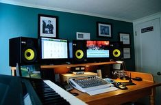 Check out this massive list of home studio setup ideas. Filter down by room colors, number of monitors, and more to find your perfect studio. Home Recording Studio Setup, Home Studio Setup, Studio Ideas, Audio Studio, Music Studio Room, Music Rooms, Music Studios, Music Production, Edm Music