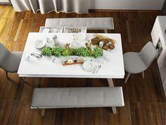 Stôl 200x100 | nábytok VOX Retro Sofa, L Shaped Sofa, Chesterfield Sofa, Velvet Sofa, Dinning Table, Leather Sofa, Furniture Design, Place Card Holders, Table Decorations