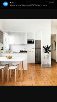 There is no question that designing a new kitchen layout for a large kitchen is much easier than for a small kitchen. A large kitchen provides a designer with adequate space to incorporate many convenient kitchen accessories such as wall ovens, raised. Scandinavian Kitchen, Scandinavian Interior Design, Interior Design Kitchen, Scandinavian Style, Kitchen Designs, Minimalist Scandinavian, Scandinavian Shelves, Swedish Kitchen, Interior Ideas