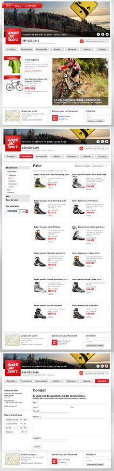 www.andrejac.com Site internet de la boutique de sport André Jac Sport à Laval - ski - vélo - camping. Utilisation de la plateforme Wordpress pour retrouver plus rapidement le premier en piste sur les moteurs de recherche les plus connus.  #siteweb #sport #andrejac #bicycle #velo #ski #camping #wordpress #id3