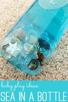 Baby Play Ideas: Sea in a Bottle for Crawling and Sitting Bubs | Childhood101