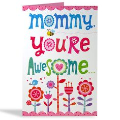 Lots Of Hugs For Mom Card Mommy You're Awesome. Sweet, caring and lovable too, mom-in-a-million, full of love so true… So here is a big thank you for everything you do. Lots of hugs and kisses for you! Card Size : 8.5 X 5.5 inch | Rs. 110 | Shop Now | https://hallmarkcards.co.in/collections/mothers-day-2016/products/happy-mothers-day-wishes