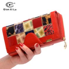 Cheap wallet small, Buy Quality wallet coach directly from China wallet pen Suppliers: Qianxilu Brand 3 Fold Genuine Leather Women Wallets Coin Pocket Female Clutch Travel Wallet Portefeuille femme cuir
