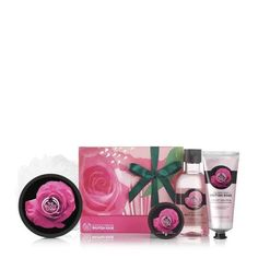 The Body Shop, Body Shop Tea Tree, Body Shop At Home, British Rose, Beautiful Gift Boxes, Body Scrub, Body Butter, Shower Gel, Rose Petals