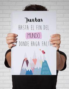 #cuadros #decorativos para el dia del amigo http://auradiseno.com/producto/juntas-hasta-el-fin-del-mundo/