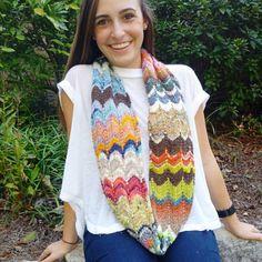SKnitsB Kaleidoscope Tube Scarf Knitting Pattern