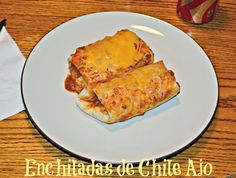 Perfect for a quick and easy #WeekdaySupper Sweet and Spicy Enchiladas de Chile Ajo filled with chicken
