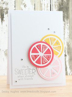 life is sweeter - Lime Doodle Design