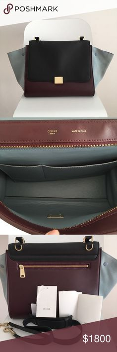 👛 Celine Large Trapaze bag Good condition Celine bag, this goes well with summer dresses and everything! Must get for this season! Serial # U MP 0112 Celine Bags Shoulder Bags