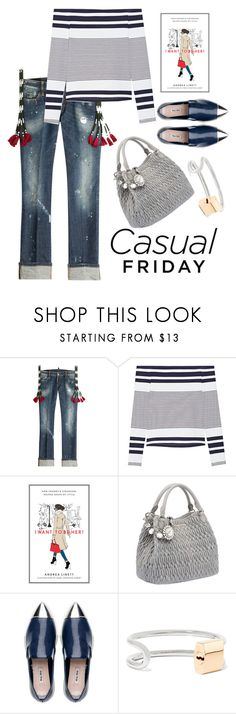 """""""Casual"""" by grinevagh ❤ liked on Polyvore featuring Dsquared2, Rosetta Getty, Dot & Bo, Miu Miu and Alexander Wang"""