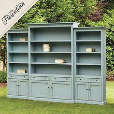 Ryland 3 piece Bookcase Wall1500 15 DeepCherry