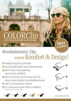 Maßgefertigte und polarisierende Monoscheiben Sonnenclip - erhältlich bei über 190 Optikern in Deutschland und Österreich - oder in unserem Onlineshop