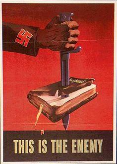 Nazi Propaganda. The Bible is the enemy.
