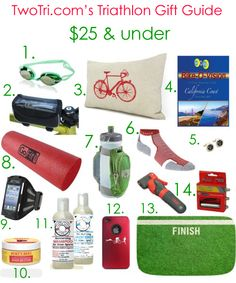 The Holiday Gift Guide For Triathlete's – $35 and under