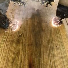 Check out how some woodworkers are using electricity to wood burn.