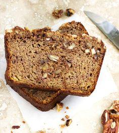 Paleo Honey and Pecan Banana Bread {Gluten Free, No Refined Sugar} - Food Faith Fitness
