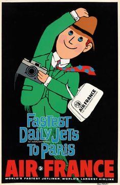 Air France travel poster, c1960