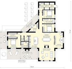 Planos de casas de una planta 3 dormitorios