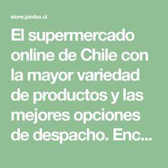 El supermercado online de Chile con la mayor variedad de productos y las mejores opciones de despacho. Encuentra ofertas y novedades en Jumbo.cl Chile, Convenience Store, Get Well Soon, Products, Bed Covers, Chili