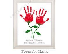 Check out Gift for Nana, Nana's Birthday Gift, Mother's Day gift, Handprint, Kids gift to a Nana, Handmade Nana Gift on sugarpickledesigns