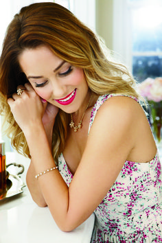 lc lauren conrad collection jewelry {+ pink lips!}