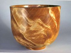 Flame Pattern Bowl, Yellow Birch Burl, 12""