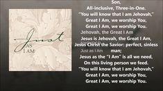 Jehovah, the Great I Am The Great I Am, Spiritual Songs, Jehovah, Savior, Worship, Spirituality, Salvador