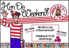 Where's Wally Custom Hen Party Invitations :)     £4.50 for a pack of 10