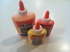 Colored glue--could write word of the day!