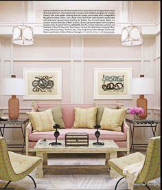 Elegant Romantic Style Living Room In Pastel Colors