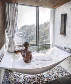 Floating bath tub ☺️ (: @gypseetravel) #interior123