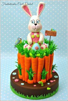 Easter Bunny ~ by Cake Wrecks Easter Bunny Cake, Easter Cupcakes, Easter Cookies, Easter Treats, Bunny Cakes, Easter Desserts, Cake Wrecks, Carrots N Cake, Desserts Ostern