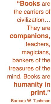 Books - the carriers of civilization