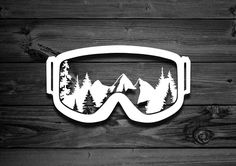 Fox Vinyl Decal Mountain Decal Car Decal Accessories For Car Decals, Vinyl Decals, Skier, Pin On, Laptop Decal, Snowboards, Wall Stickers, Logo Stickers, Truck Stickers