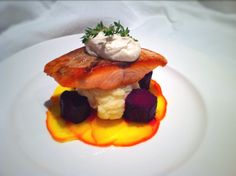 Salt-Baked Beets, Salmon and Goats Cheese - Fine Dining Recipes | Food Blog | Restaurant Reviews | Fine Dining At Home