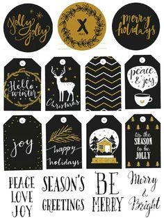 Hello Christmas - sticker printable…