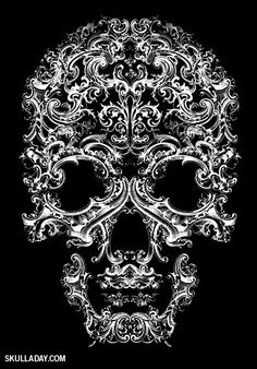 [BONUS] 390. Ornamental Skull II   Kenneth Cole Skull-A-Day blog posted by Noah