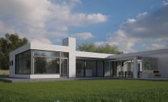 ZIPHOUSE - Kundanpassade moderna passivhus | Strandridaren Small Houses, Exterior Design, Garage Doors, Villa, Live, Architecture, Outdoor Decor, Home Decor, Little Houses
