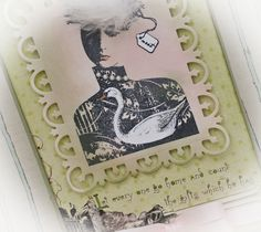 Card stamped with art stamps by Character Constructions Theater of Dreams collection