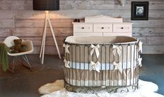 The Royal Nursery: 12 Jaw-Dropping Room Ideas for Your Prince or Princess Actually kinda like this look, minus the fur rug. Luxury Nursery, Chic Nursery, Nursery Neutral, Nursery Room, Nursery Ideas, Neutral Nurseries, Girl Nurseries, Nautical Nursery, Rustic Baby Rooms