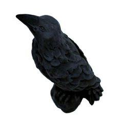 Cast Stone Raven Garden Statue Black-GNRAV-BK - The Home Depot