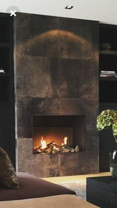 Terrific Snap Shots Contemporary Fireplace tile Tips Modern fireplace designs can cover a broader category compared for their contemporary counterparts. Fireplace Tv Wall, Fireplace Inserts, Modern Fireplace, Fireplace Surrounds, Fireplace Mantels, Linear Fireplace, Concrete Fireplace, Faux Fireplace, Fireplace Ideas