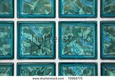glass brick background ocean color and white grid by maymak, via ShutterStock
