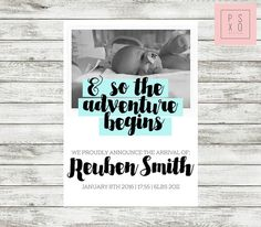 Birth Announcement  So The Adventure Begins  Pale by PSXODesign